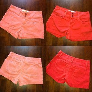 Anthropologie Bella Dahl Cuffed Shorts 27